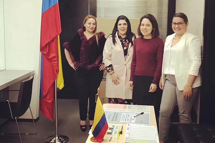 Brindando soporte al consulado de Colombia en Guangzhou para las fechas de elecciones presidenciales